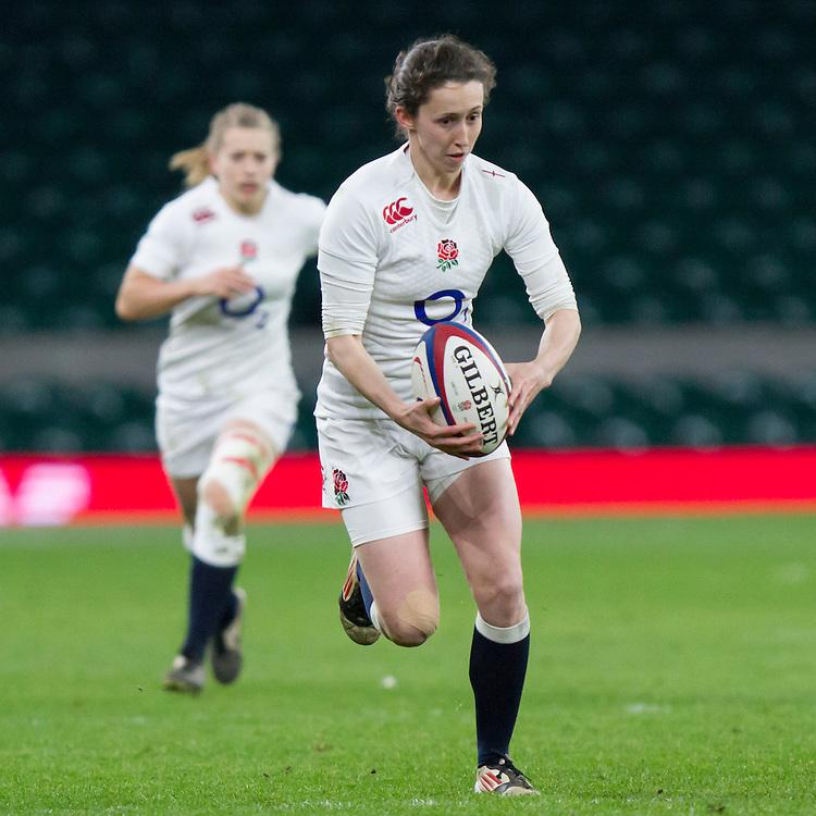 Ruth Laybourn in action, England Women v France Women in the 6 Nations at Twickenham Stadium, Twickenham, England, on 21st March 2015