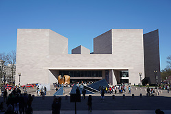 A view the National Gallery of Art Museum East Gallery (Architect: IM Pei )in Washington DC in the United States. From a series of travel photos in the United States. Photo date: Friday, March 30, 2018. Photo credit should read: Richard Gray/EMPICS