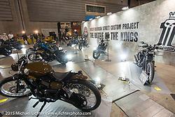 The Battle of the Kings Harley-Davidson Japan's Street Custom Project at the Mooneyes Yokohama Hot Rod & Custom Show. Yokohama, Japan. December 6, 2015.  Photography ©2015 Michael Lichter.