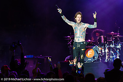 Josh Todd, the voice behind Buckcherry, performs on the Sturgis Buffalo Chip's main stage on the final Saturday of the annual Black Hills Motorcycle Rally. SD, USA. August 9, 2014.  Photography ©2014 Michael Lichter.