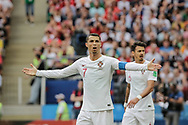 Cristiano Ronaldo of Portugal during the 2018 FIFA World Cup Russia, Group B football match between Portugal and Morocco on June 20, 2018 at Luzhniki stadium in Moscow, Russia - Photo Thiago Bernardes / FramePhoto / ProSportsImages / DPPI