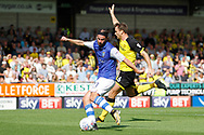 Sheffield Wednesday midfielder George Boyd (21) shoots on goal but is offside during the EFL Sky Bet Championship match between Burton Albion and Sheffield Wednesday at the Pirelli Stadium, Burton upon Trent, England on 26 August 2017. Photo by Richard Holmes.