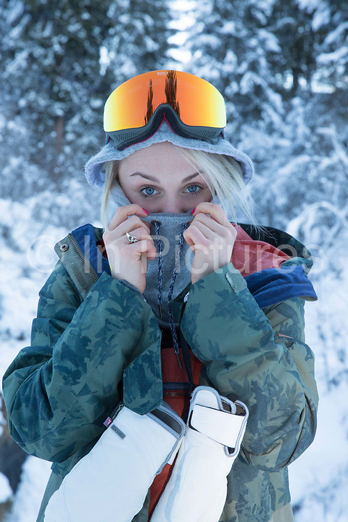 British Olympic Freestyle Snowboarder Aimee Fuller during the Laax Open on 19th January 2017 in Laax Ski Resort, Switzerland.