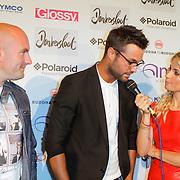 NLD/Amsterdam/20120618 - Inloop Meest Sexy Mannelijke BN'er , genomineerde Dean Saunders, Jan Kooijman en Vivian Reijs