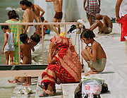 Prayer and meditation at the Ganges - Rishikesh
