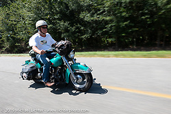Bob Gamache of Lakeville, MA riding his 1948 Harley-Davidson FL Panhead in theCross Country Chase motorcycle endurance run from Sault Sainte Marie, MI to Key West, FL. (for vintage bikes from 1930-1948). Stage-7 covered 249 miles from Macon, GA to Tallahassee, FL USA. Thursday, September 12, 2019. Photography ©2019 Michael Lichter.