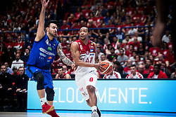 May 26, 2018 - Milan, Milan, Italy - Andrew Goudelock (#0 EA7 Emporio Armani Milano) drives to the basket during a basketball game of Poste Mobile Playoff Lega Basket A between  EA7 Emporio Armani Milano vs Germani Basket Brescia at Mediolanum Forum, in Milan, Italy, on 26 May 2018. (Credit Image: © Roberto Finizio/NurPhoto via ZUMA Press)