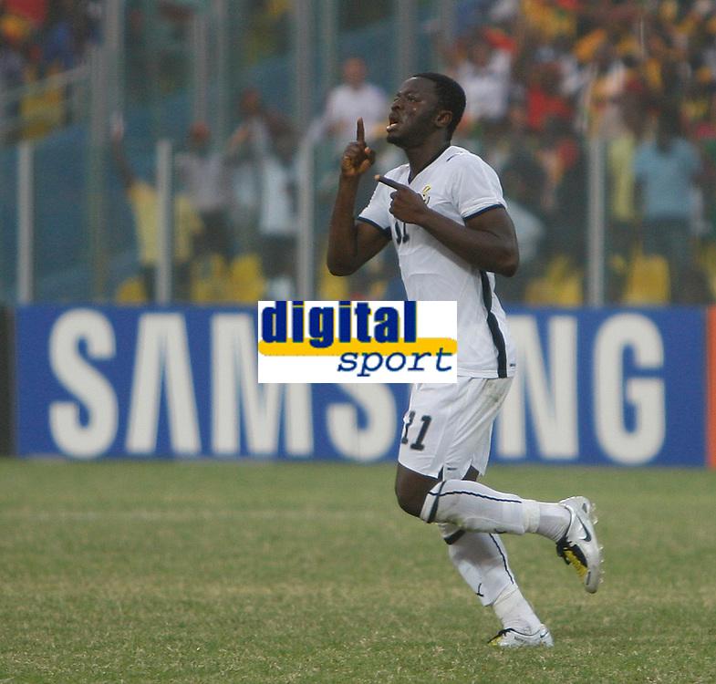 Photo: Steve Bond/Richard Lane Photography.<br />Ghana v Morocco. Africa Cup of Nations. 28/01/2008. Sulley Muntari celebrates his goal. Ghana's No2
