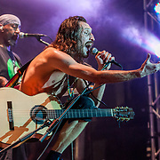 BALTIMORE United States - September 27, 2014: Gogol Bordello performs at The Shindig, in Baltimore's historic Carroll Park