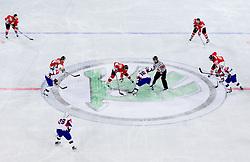 Janos Vas of Hungary vs Ales Music of Slovenia during ice-hockey match between Slovenia and Hungary at IIHF World Championship DIV. I Group A Slovenia 2012, on April 18, 2012 in Arena Stozice, Ljubljana, Slovenia.  (Photo by Vid Ponikvar / Sportida.com)
