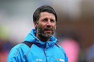 Lincoln City Manager Danny Cowley looks on .The Emirates FA cup 5th round match, Burnley v Lincoln City at Turf Moor in Burnley, Lancs on Saturday 18th February 2017.<br /> pic by Chris Stading, Andrew Orchard Sports Photography.