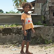 Shy papuan girl.
