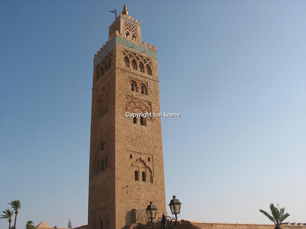Minaret in marakesh, morocco