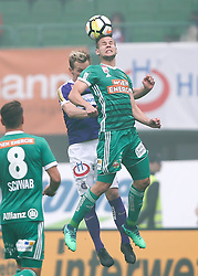 15.04.2018, Ernst Happel Stadion, Wien, AUT, 1. FBL, FK Austria Wien vs SK Rapid Wien, 30. Runde, im Bild Thomas Salamon (FK Austria Wien) und Louis Schaub (SK Rapid Wien) // during Austrian Football Bundesliga Match, 30th Round, between FK Austria Vienna and SK Rapid Wien at the Ernst Happel Stadion, Vienna, Austria on 2018/04/15. EXPA Pictures © 2018, PhotoCredit: EXPA/ Thomas Haumer