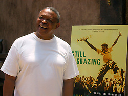 May 27, 2004; Atlanta, GA, USA; HUGH MASEKELA signs copies of 'Still Grazing: The Musical Journey of Hugh Masekela'. The autobiography of The South African jazz legend and world music pioneer was co-written with Michael Cheers. Signing took place at Justin's Restaurant and Bar in Atlanta..  (Credit Image: Brenda J. Turner/ZUMAPRESS.com)