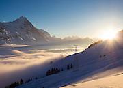Postkarte A6: Grindelwald First, Eiger (0878)