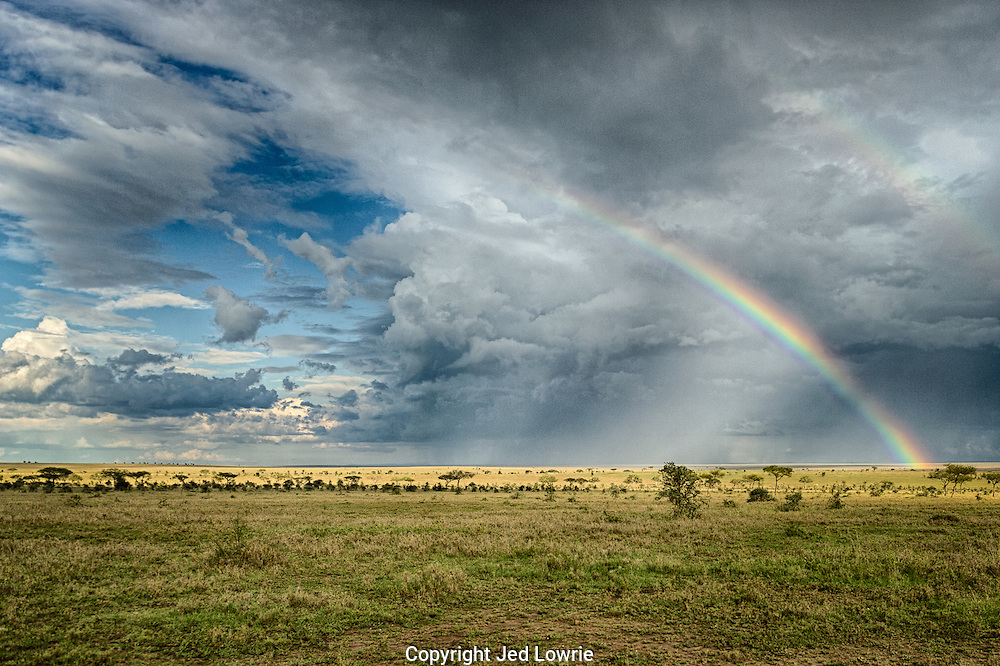 This double rainbow was quite the site following the fast moving rain storm in the background of this shot.