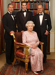 File photo dated 02/06/03 of three generations of the British Royal family - Queen Elizabeth II and her husband, the Duke of Edinburgh, their oldest son, the Prince of Wales, and his oldest son, Prince William, at Clarence House in London before a dinner to mark the 50th anniversary of her Coronation.