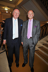 Left to right, ANDREW PARKER BOWLES and SIMON PARKER BOWLES at the opeing of Green's Restaurant & Oyster Bar, 14 Cornhill, London EC3 on 1st September 2009.