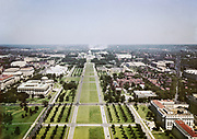 CS01917. Washington DC mall about 1942. Looking east from the Washington Monument to the Capitol.