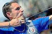 © Filippo Alfero<br /> Mondiali di tiro con l'arco Torino 2011<br /> Torino, 10/07/2011<br /> sport tiro con l'arco<br /> Nella foto: Romain Girouille (FRA)