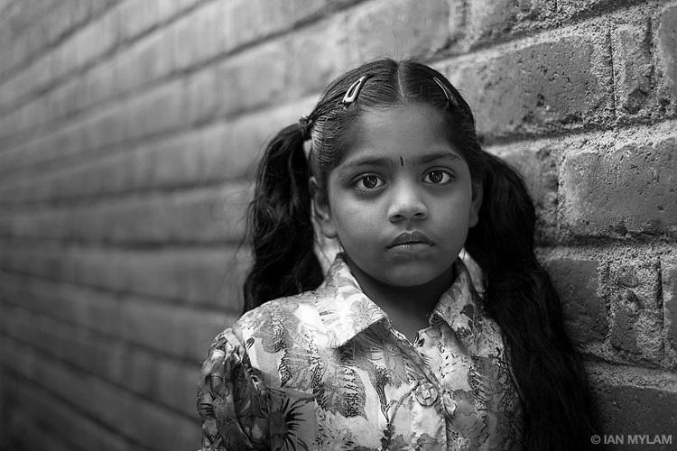Girl and Wall - Chennai, India
