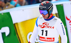 14.02.2020, Zwölferkogel, Saalbach Hinterglemm, AUT, FIS Weltcup Ski Alpin, Super G, Herren, im Bild Beat Feuz (SUI) // Beat Feuz of Switzerland reacts after his run for the men's SuperG of FIS Ski Alpine World Cup at the Zwölferkogel in Saalbach Hinterglemm, Austria on 2020/02/14. EXPA Pictures © 2020, PhotoCredit: EXPA/ Erich Spiess