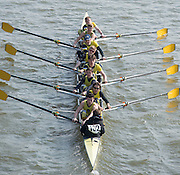 Chiswick, London, Great Britain.<br /> Hampton Sch BCSchool Third Eight, competing in the <br /> 2016 Schools Head of the River Race, Reverse Championship Course Mortlake to Putney. River Thames.<br /> <br /> Thursday  17/03/2016<br /> <br /> [Mandatory Credit: Peter SPURRIER;Intersport images]