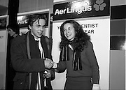09/01/1981.01/09/1981.9th January 1981.The Aer Lingus Young Scientist of the Year Award at the RDS, Dublin ..Catherine Conlan from Muckross Park College, Donnybrook, Dublin who was the winner of the Young Scientist award shakes hands with competitor.