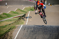 #313 (KIMMANN Niek) NED during practice at Round 9 of the 2019 UCI BMX Supercross World Cup in Santiago del Estero, Argentina