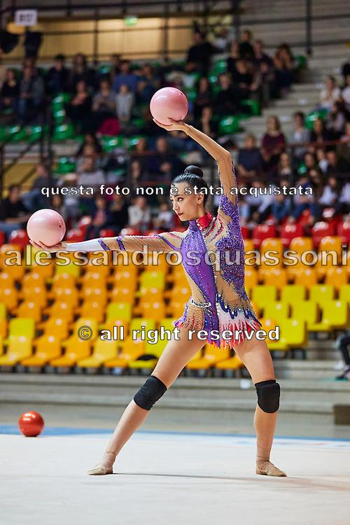 Alessia Russo of the Italian Rhythmic Gymnastics Team during training in Desio, 08 February 2020.
