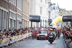 The start of the Amstel Gold Race - Ladies Edition - a 126.8 km road race, between Maastricht and Valkenburg on April 21, 2019, in Limburg, Netherlands. (Photo by Balint Hamvas/Velofocus.com)