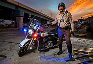 Essential Worker, Miami-Dade Police Department Special Patrol Bureau, Motorcycle Unit Officer John Alexander Jr. on Thursday, May 7, 2020.
