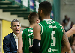 Zoran Martic, coach of Petrol Olimpija during basketball match between KK Krka Novo mesto and  KK Petrol Olimpija in 4th Final game of Liga Nova KBM za prvaka 2017/18, on May 27, 2018 in Sports hall Leona Stuklja, Novo mesto, Slovenia. Photo by Vid Ponikvar / Sportida