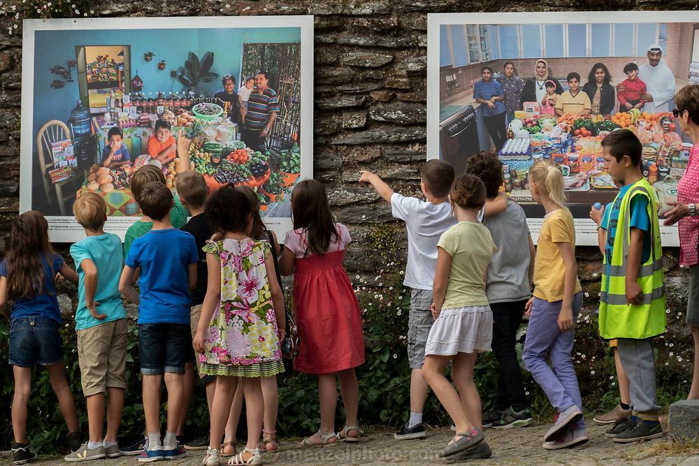 La Gacilly, France. Hungry Planet outdoor exhibit at La Gacilly Photo Festival in Brittany.