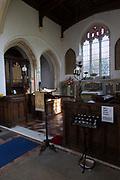 Interior Church of Saint Mary, Chilton, Suffolk, England, UK