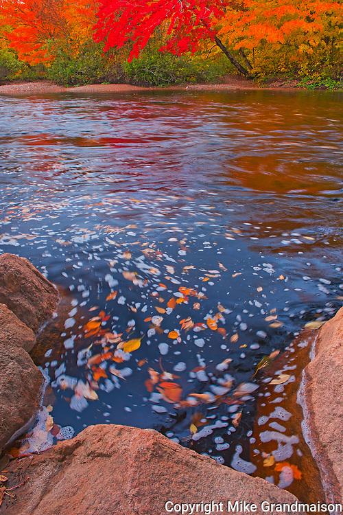 North Aspy River in autumn splendour<br />Cape Breton Highlands National Park<br />Nova Scotia<br />Canada