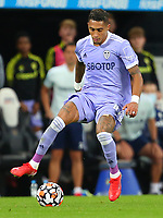 NEWCASTLE UPON TYNE, ENGLAND - SEPTEMBER 17: Raphinha of Leeds United brings the ball forward during the Premier League match between Newcastle United and Leeds United at St. James Park on September 17, 2021 in Newcastle upon Tyne, England. (Photo by MB Media)
