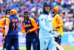 Jason Roy of England  cuts a dejected figure after getting out to Kuldeep Yadav of India - Mandatory by-line: Robbie Stephenson/JMP - 30/06/2019 - CRICKET - Edgbaston - Birmingham, England - England v India - ICC Cricket World Cup 2019 - Group Stage