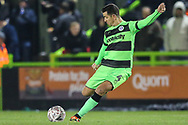 Forest Green Rovers Lloyd James(4) during the The FA Cup 1st round replay match between Forest Green Rovers and Oxford United at the New Lawn, Forest Green, United Kingdom on 20 November 2018.