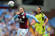 Ross McCormack of Aston Villa in action. EFL Skybet championship match, Aston Villa v Rotherham Utd at Villa Park in Birmingham, The Midlands on Saturday 13th August 2016.<br /> pic by Andrew Orchard, Andrew Orchard sports photography.