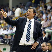 Efes Pilsen's coach Ergin ATAMAN during their Turkish Basketball league Play Off Final fifth leg match Efes Pilsen between Fenerbahce Ulker at the Ayhan Sahenk Arena in Istanbul Turkey on Sunday 30 May 2010. Photo by Aykut AKICI/TURKPIX