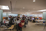 Purchase, NY – 31 October 2014. Eleven high school teams gathered around tables in Morgan Stanley atrium to work on their presentations. The Business Skills Olympics was founded by the African American Men of Westchester, is sponsored and facilitated by Morgan Stanley, and is open to high school teams in Westchester County.