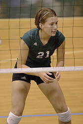 27 October 2006: Titan Katie Butson. The Bears won the match 3 games to 1. The match between the Washington University Bears and the Illinois Wesleyan Titans took place at Shirk Center on the IWU campus in Bloomington Illinois.<br />