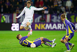 Ales Mertelj of NK Maribor vs Charis Mavrias of Panathinaikos during football match between NK Maribor and Panathinaikos Athens F.C. (GRE) in 1st Round of Group Stage of UEFA Europa league 2013, on September 20, 2012 in Stadium Ljudski vrt, Maribor, Slovenia. Maribor defeated Panathinaikos 3-0. (Photo By Vid Ponikvar / Sportida)
