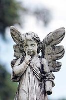 angel statue in the beautiful island of ilha grande near rio de janeiro in brazil