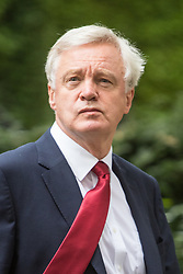 Downing Street, London, September 9th 2016.  Secretary of State for Exiting the European Union David Davis leaves 10 Downing Street following the weekly cabinet meeting.