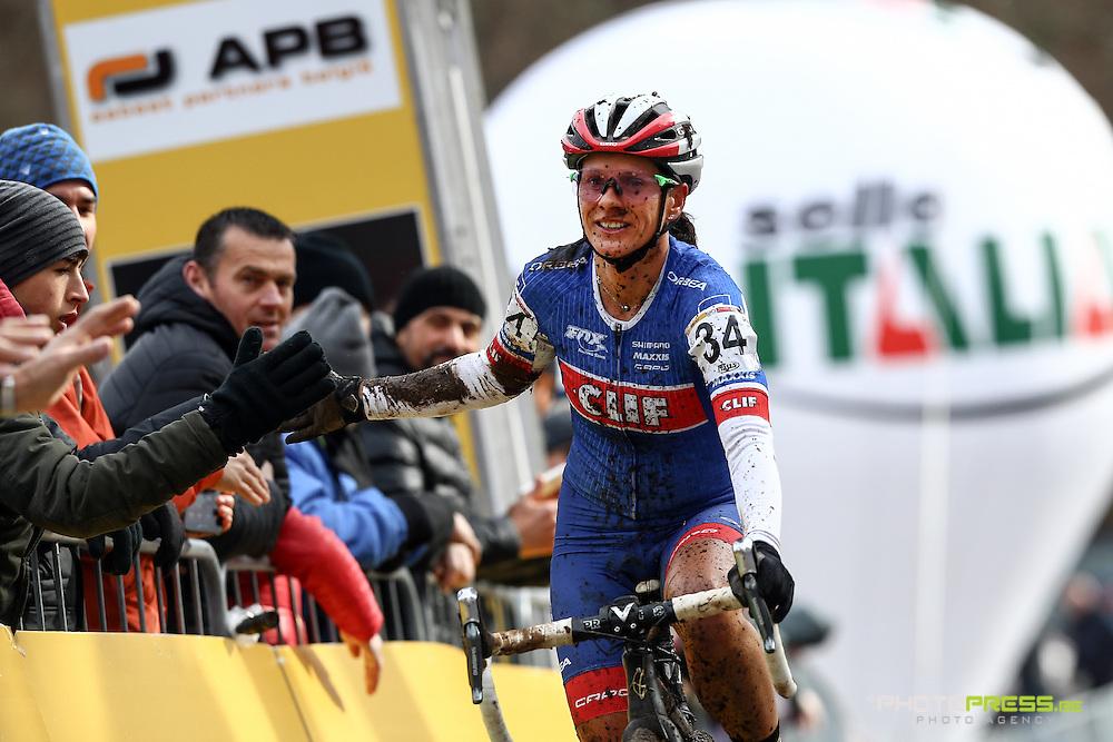 ITALY / ITALIE / FIUGGI / REGIO LAZIO / CYCLING / CYCLOCROSS / VELDRIJDEN / RADQUER / WORLD CUP #7 / WERELDBEKER #7 / COUPE DU MONDE #7 / 8TH MEMORIAL ROMANO SCOTTI / WOMEN / AANKOMST / ARRIVE / FINISH / NASH KATERINA (CZE) /