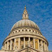The dome of St Pauls Cathedral in London.