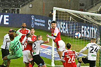 Football - 2020 / 2021 Sky Bet Championship - Swansea City vs Rotherham United - Liberty Stadium<br /> <br /> Jake Bidwell Swansea City   fails to connect in front of goal<br /> in a match played without fans<br /> <br /> COLORSPORT/WINSTON BYNORTH
